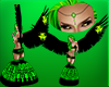 Toxic Green Dubstep fit