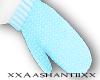 [Ash] Blue Mittens