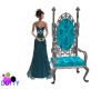 silver teal throne