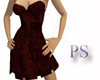 [PS] Strapless Burgundy