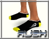{DR} Socks Black Yellow