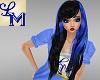 !LM Black Blue Natalia
