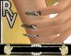 Leopard diamond nail