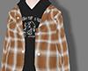 Plaid jacket+sweater