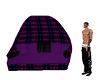 black and purple sofa
