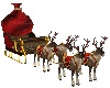 Christmas Deer Sledge