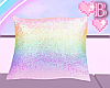 *B Sequin Pillow