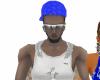 blue rep hat