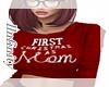 1st xmas as mom match pj