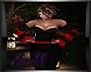 DQ Black Red Jump Suit L