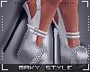Ms~White heels