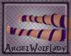 [A]Dk Purple Feet Ribbon