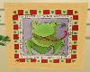 Frog Print in Pine Frame