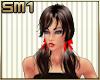 """SM1 """"Erin"""" brn str w/bow"""