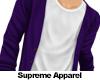 Purple Cardigan.