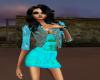 Blue madeness dress