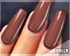GEL Coffin Nails COFFEE