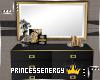 Gold & Black Dresser