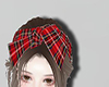Red plaid hair band