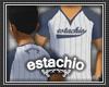 (e) Blue Baseball Tee