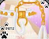 [Pets]ChainCollar |white