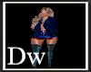 Dw blue disco boots