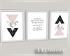 H. Triple Framed Pink WN