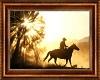Cowboy Sunrise Painting