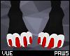 V e Red Paws F