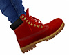 Red Lace Work Boots M