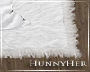 H. Fur Rug White