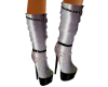 Silver Strappy Boots