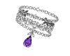 Purple Tear L Bracelet