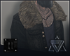 // denim+fur jacket