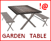 !@ Garden table 6 places
