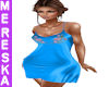 Blue Satin Slip Dress