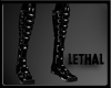 [LS] Strapped pvc boots.