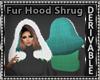 Fur Hood Shrug Mesh