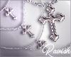 Winter Cross Necklace