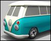 Blue Vintage Van