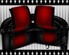 Dark Rouge Curve Couch