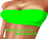 Neon green tube top