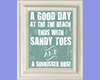 Framed Beach Quote