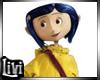 Kid Coraline Button Eye