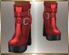 Red Platform Boots