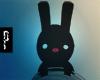 Á Happy Bunny Black