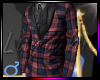 ! A Slim Plaid Suit Red