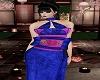 Blue Purple Fan Dress