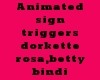 Animated sign Rosa