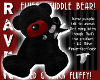 BLACK & RED TEDDY BEAR!
